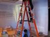 Francie up on ladder